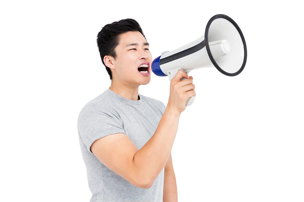 年轻人喊喇叭代图片
