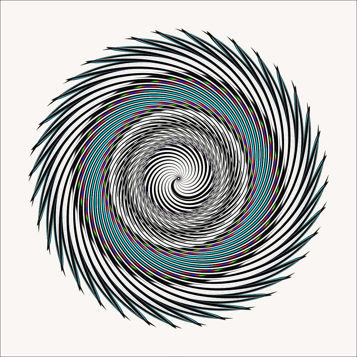 锯齿漩涡线创意设计图片