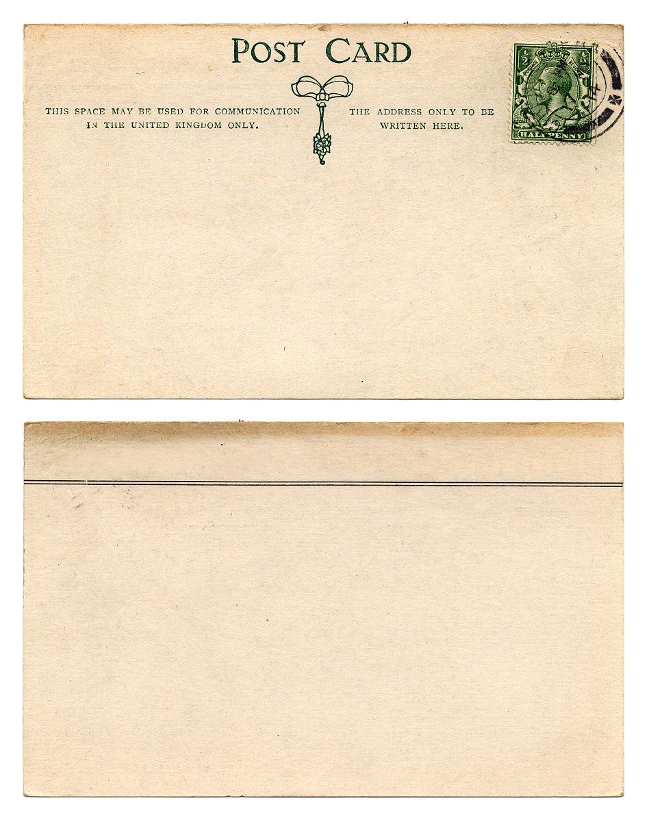 英国明信片正面和背面(1914)图片