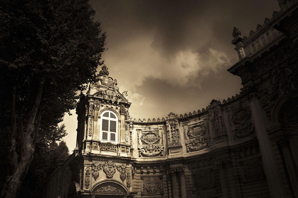 建筑,旅游目的地,宫殿,欧洲,中东,棕褐色调,土耳其,塔,暗色,著名景点图片