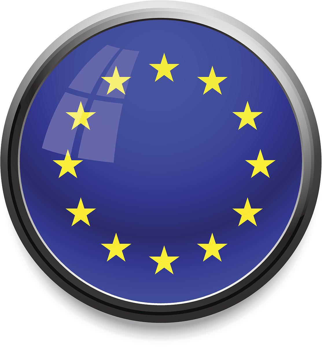 欧盟-国旗图标图片