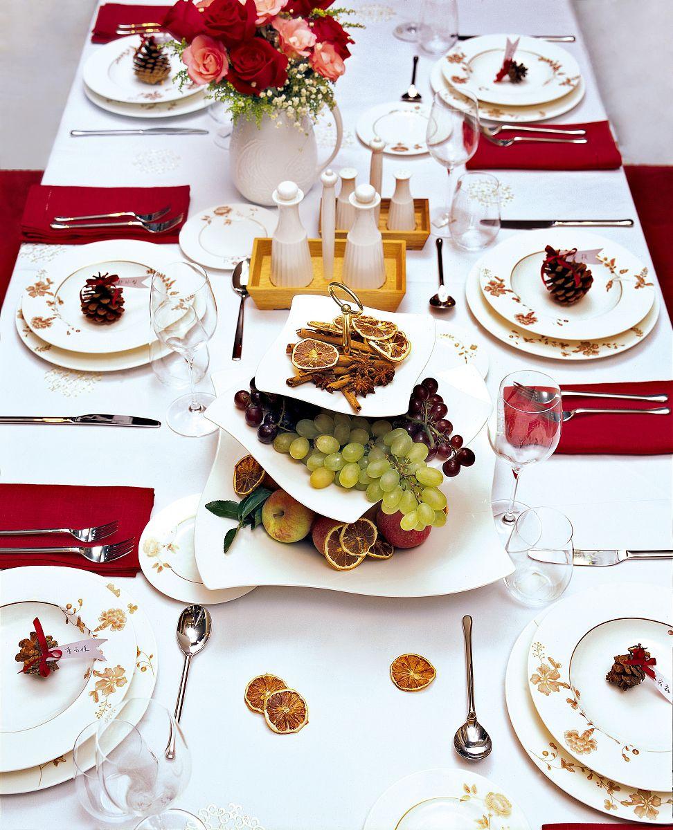 西式餐桌布置图片