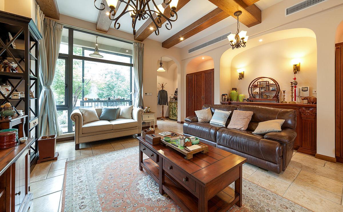 美式客厅装修别墅内部图片
