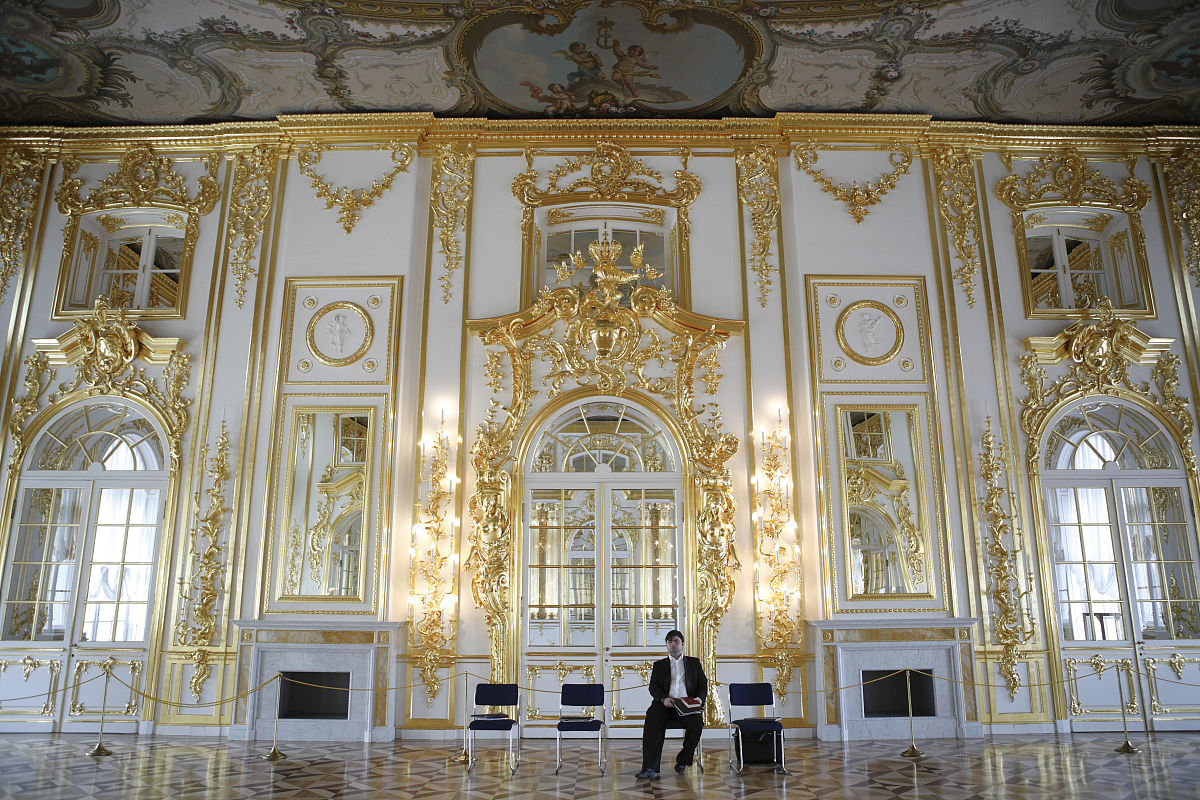 宫殿的内部,tsarskoye selo(pushkin),靠近圣彼得堡,俄罗斯图片