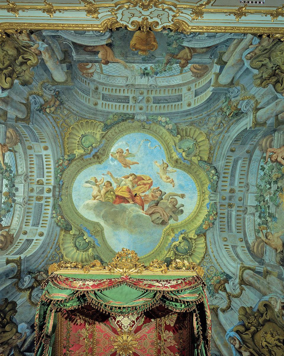 丰富,财富,垂直画幅,室内,宫殿,设计,卧室,天花板,新古典派,意大利图片