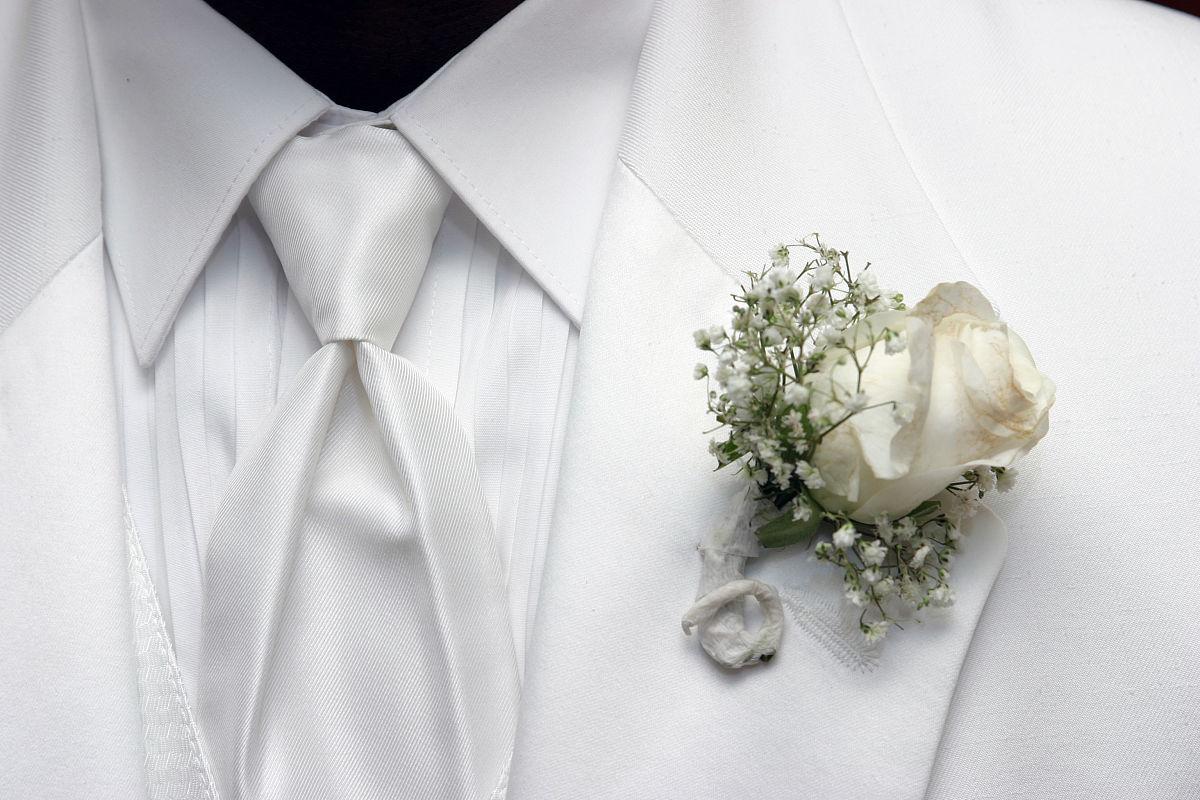 新郎的领带