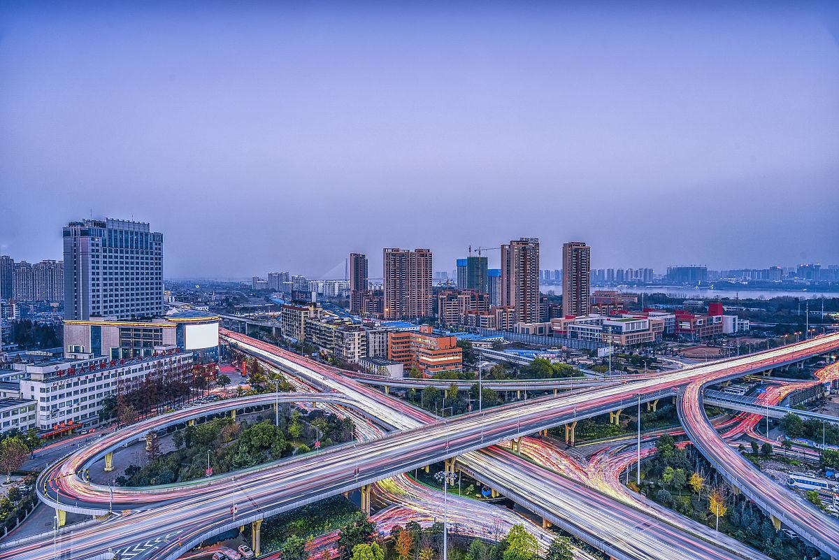 都市风光武汉长江二桥黄浦路立交桥图片