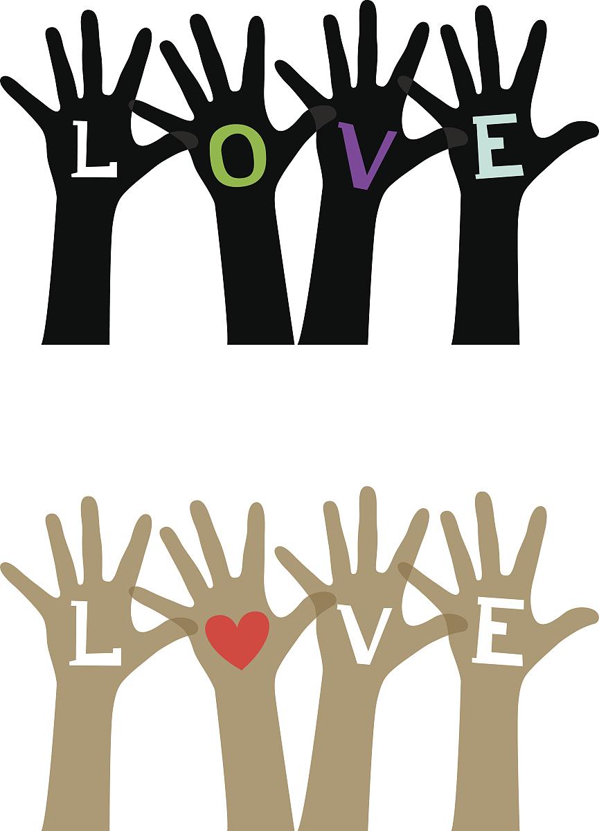 概念,友谊,爱,深情的,手,家庭,心型,计算机图形学,情人节卡,组织团队图片
