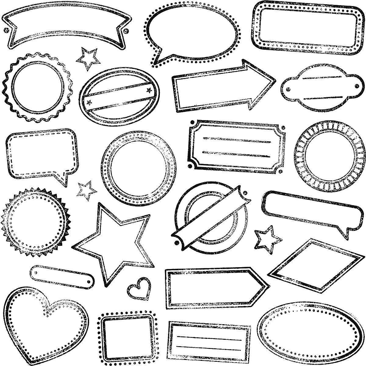 水平画幅,式样,墨水,插画,轮廓线画,心型,老年人,形状,计算机图形学图片