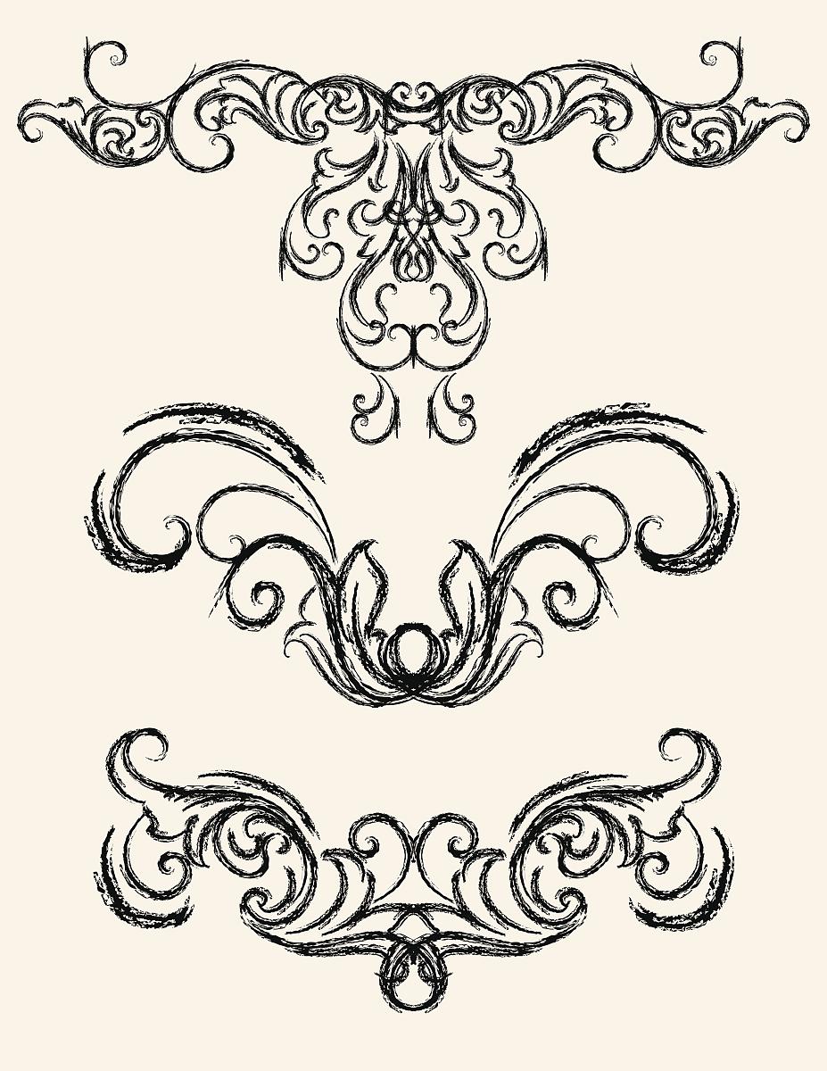 素描,古董,草图,花纹,矢量,阿拉伯风格,装饰镜板,花形图案装饰,花体图片