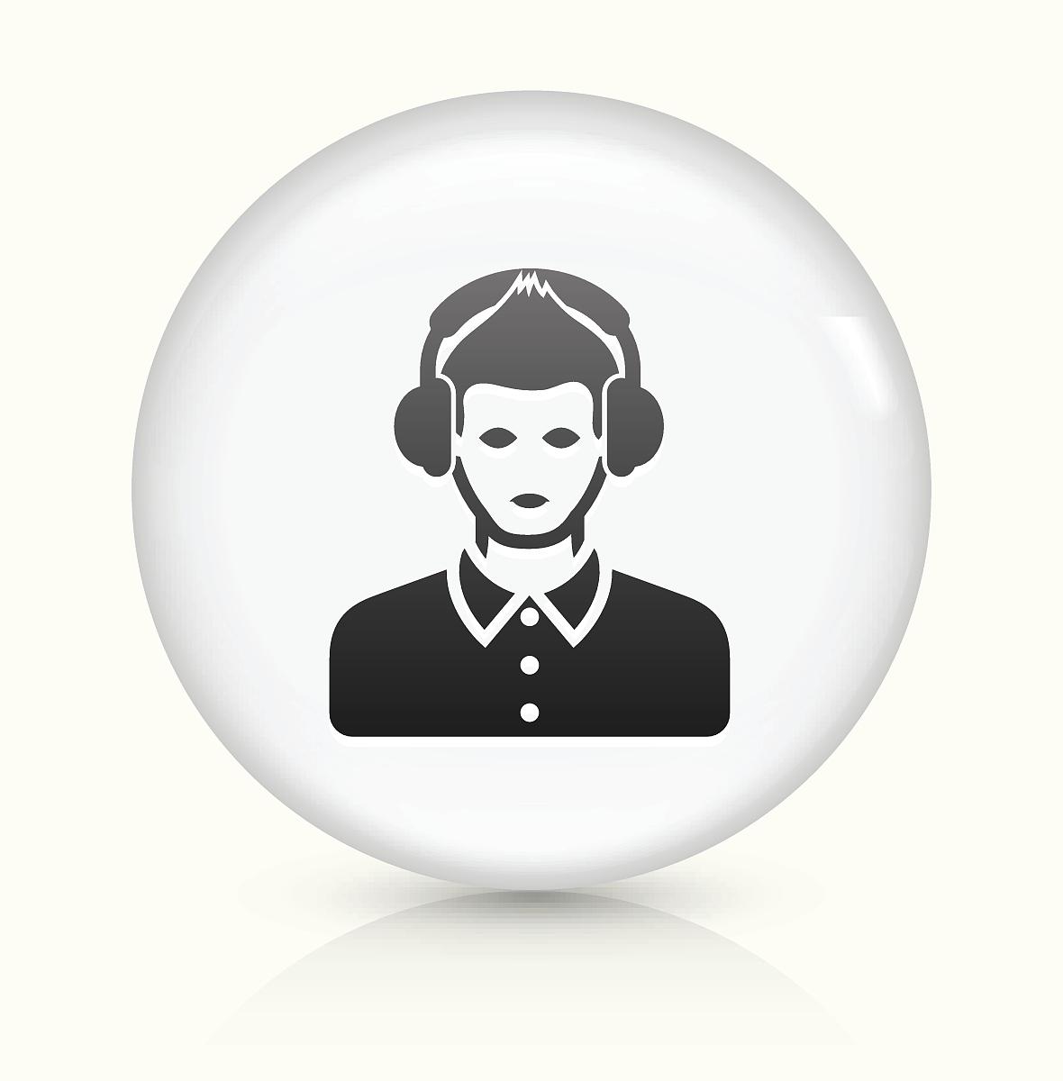 听���!�`iyn��+��n���'���_音乐听图标白色圆形矢量按钮