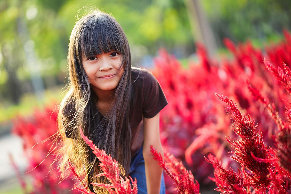 亚洲小女孩图片