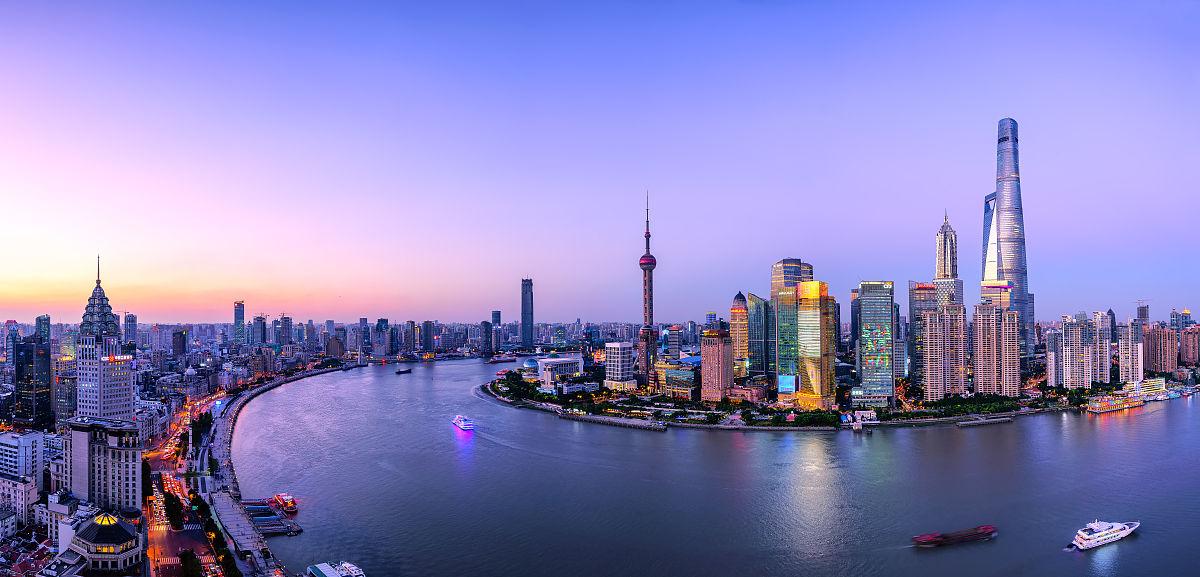 上海�y���a��b9�.��ih_上海外滩和陆家嘴全景