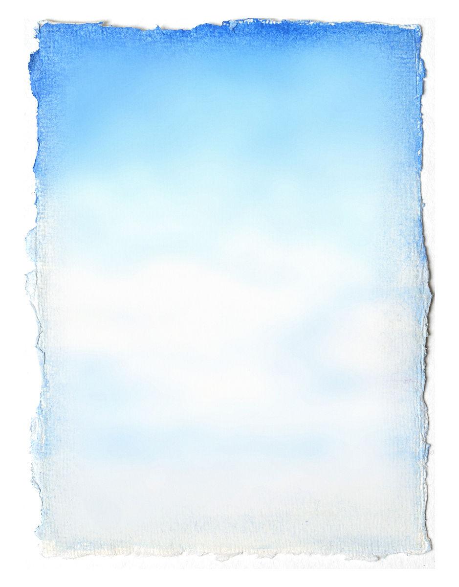 手绘蓝天图片