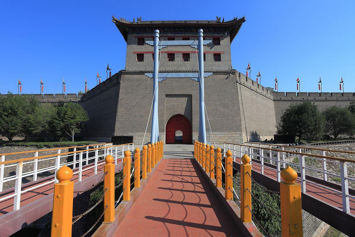 西安古城墙永宁门图片