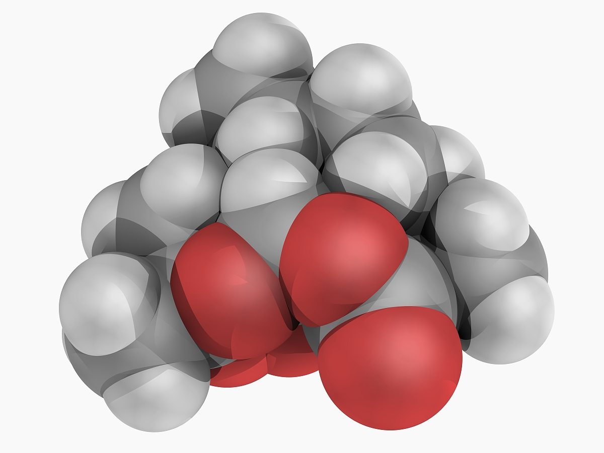 单个物体的结构素�_青蒿素的药物分子