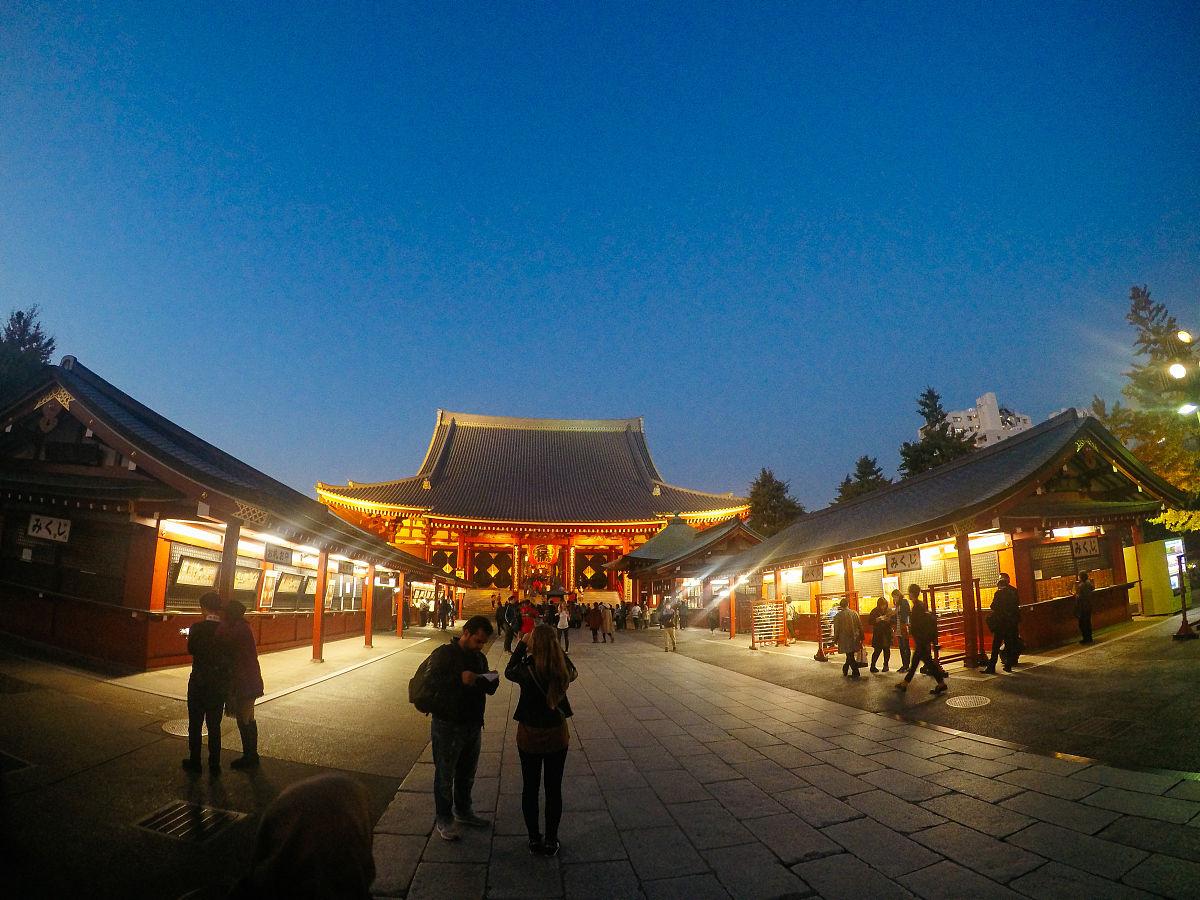 浅草寺的夜晚