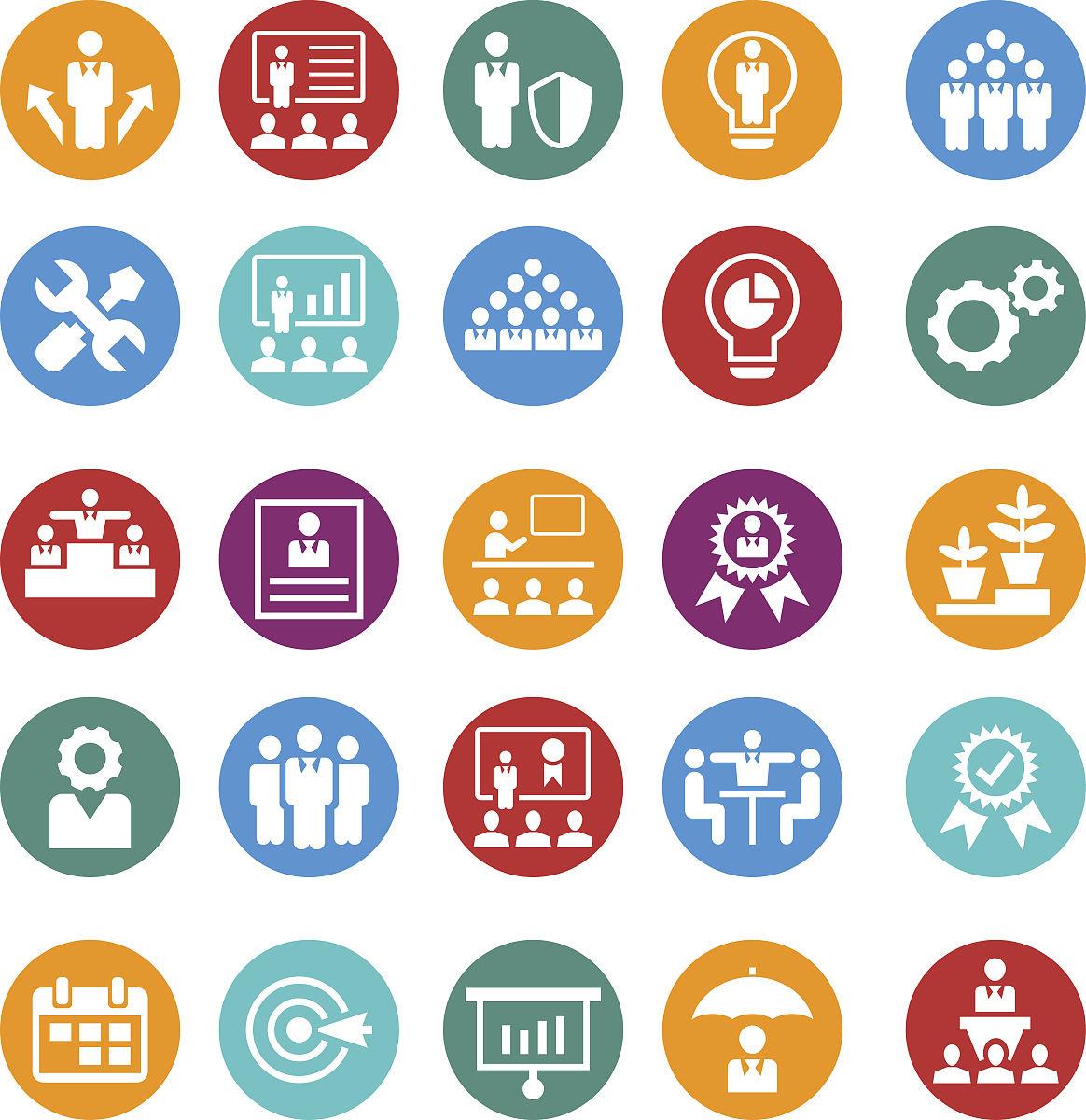 业务和管理图标集图片