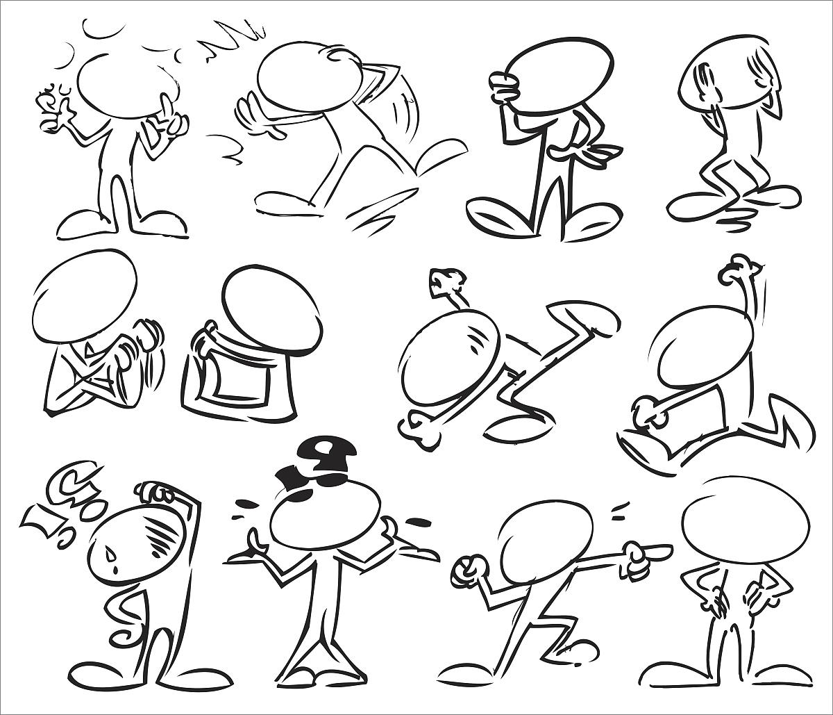 问号,痕迹,动画片,人体,运动模糊,坏消息,正字符号,概念,设计,黑白图片