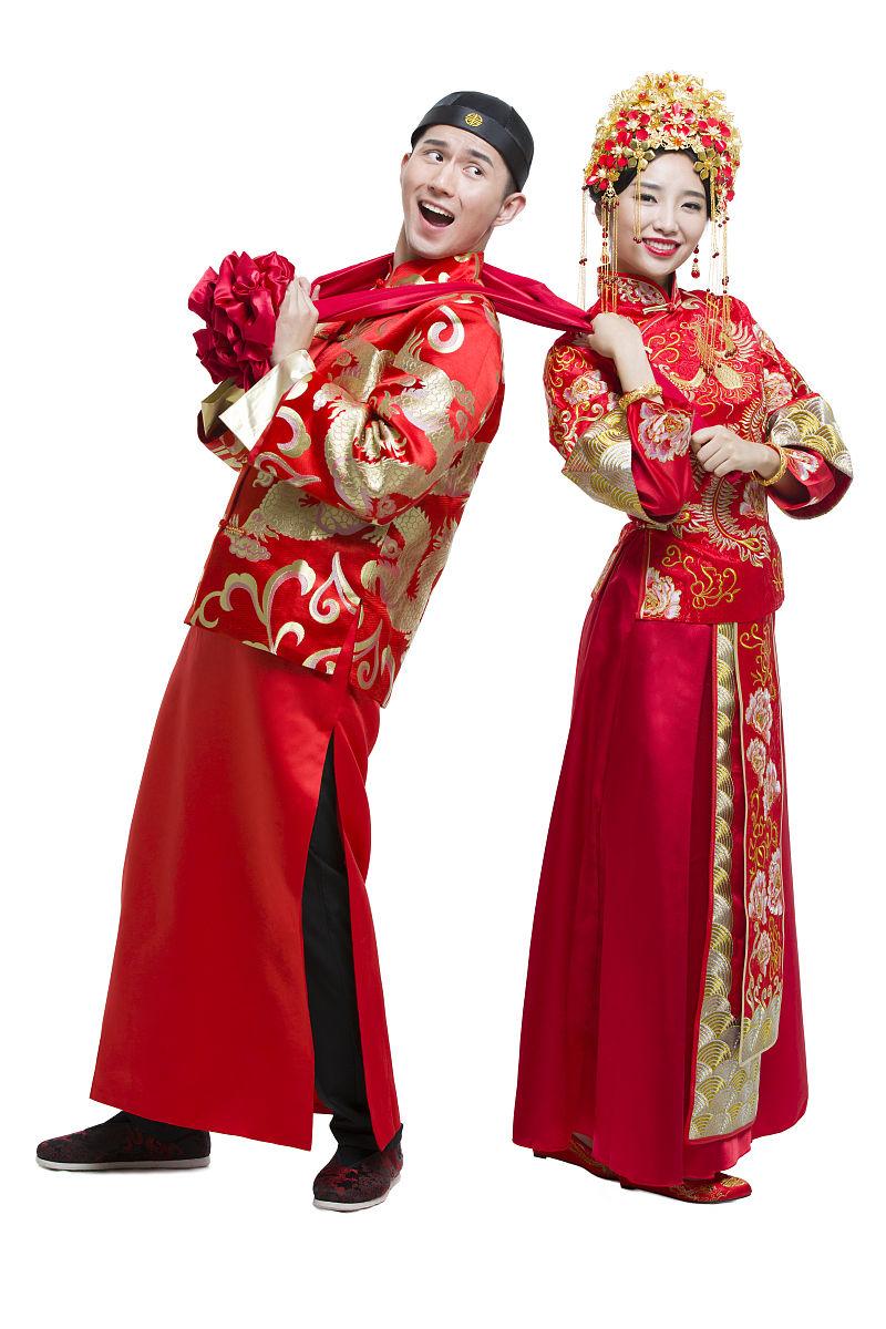 刺绣,凤冠,凤冠霞帔,丝绸,调情,婚纱,人生大事,结婚庆典,古典风格图片