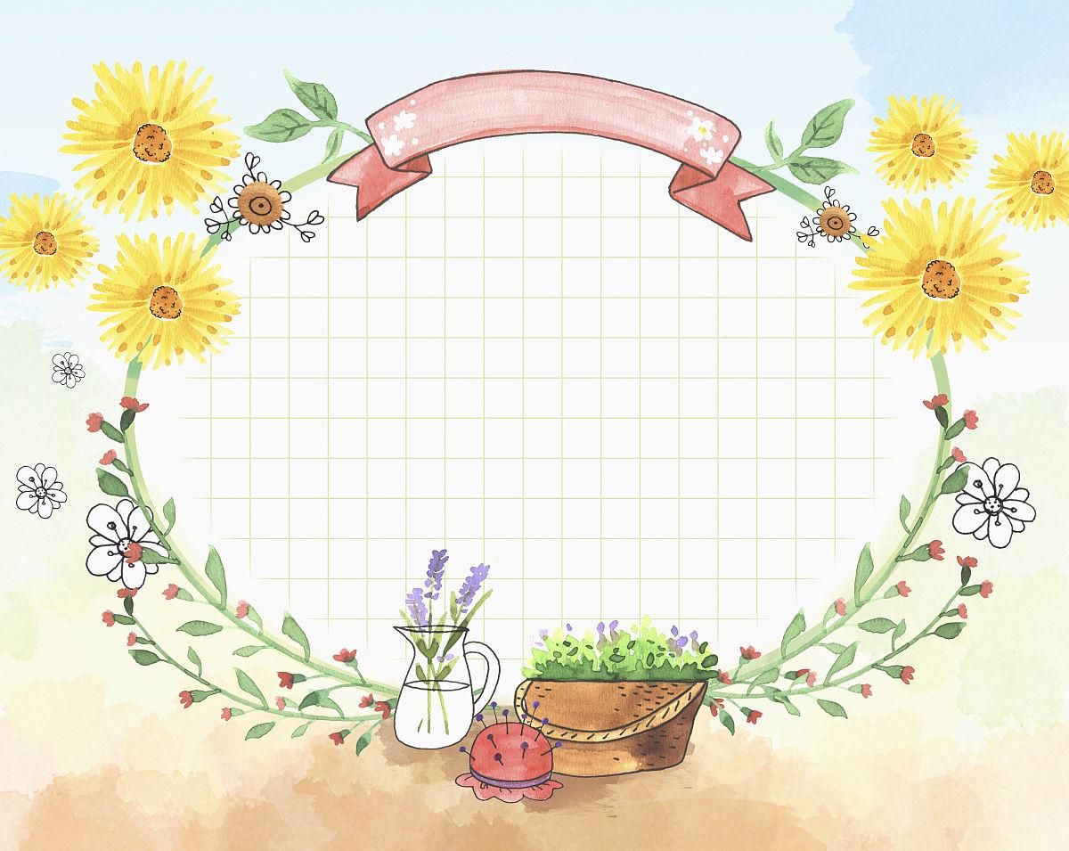水壶,篮子,花瓶,边框,仅一朵花,植物志,画框,无人,花,工厂,植物,背景图片