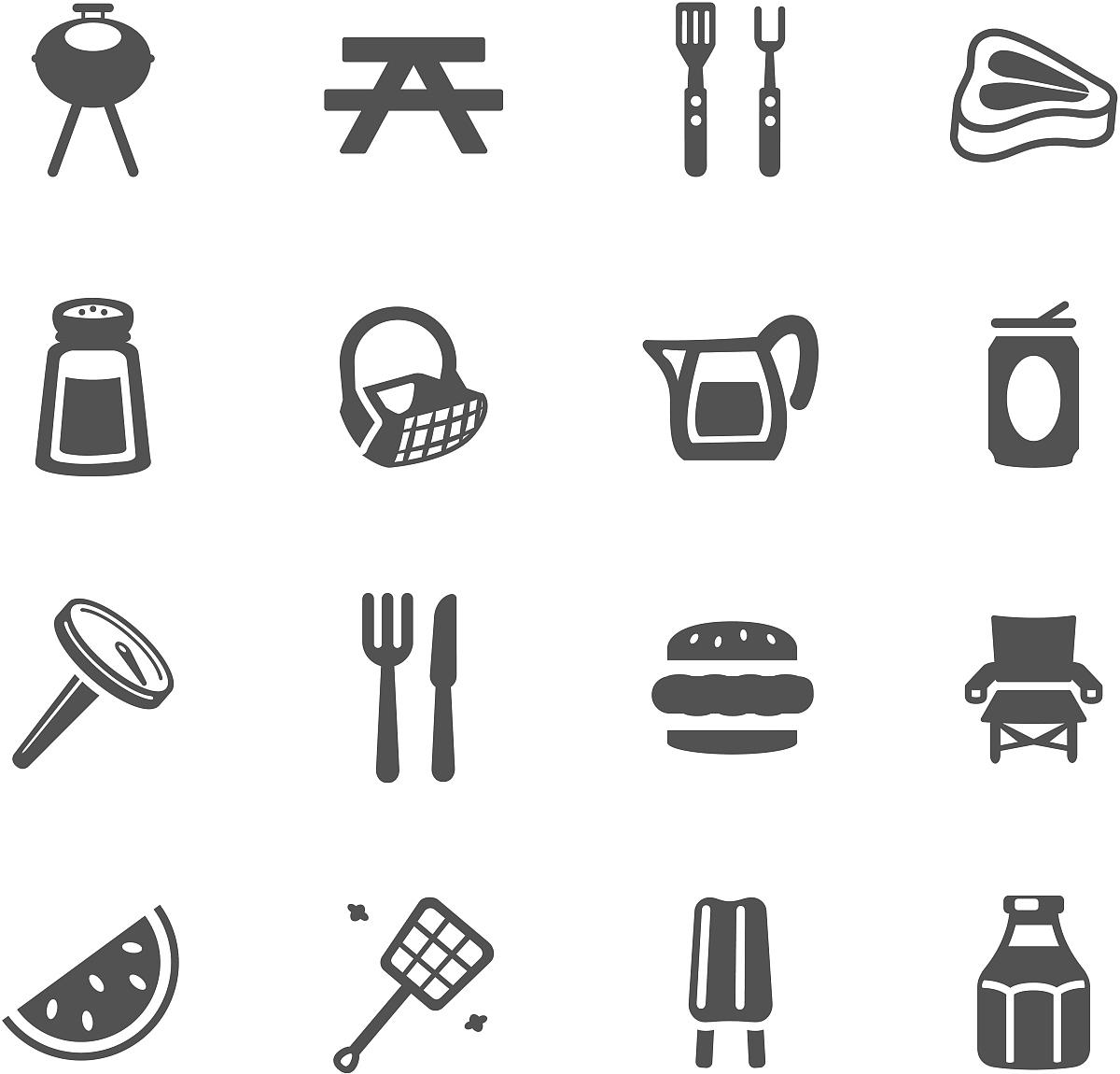 烧烤的符号图片