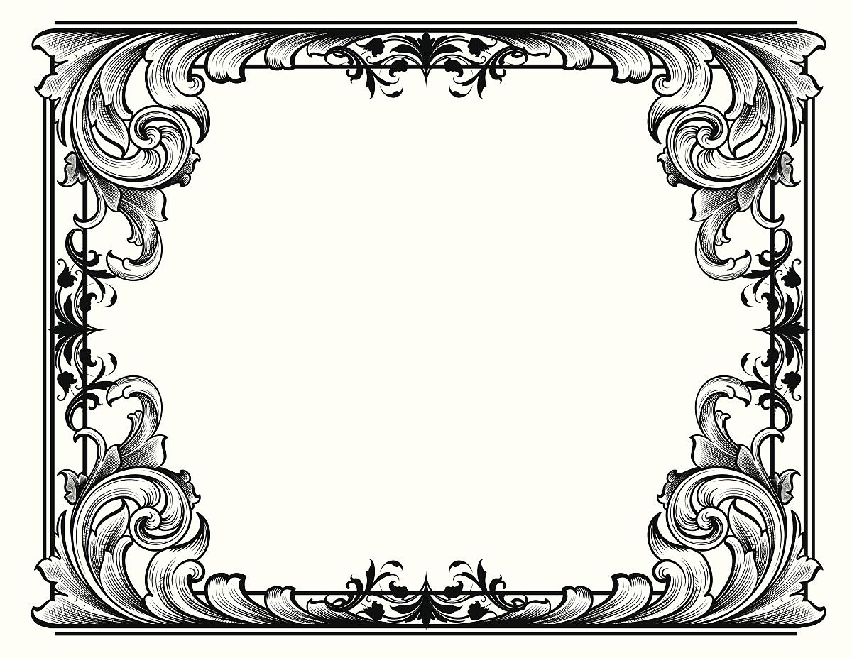 雕刻术,奖,华丽的,缠绕,雕刻图像,留白,花纹,矢量,阿拉伯风格,花体图片