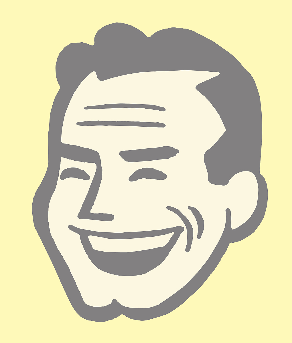 轮廓,人,背景分离,男人,简单背景,笑,成年人,面部表情,发型,矢量图片