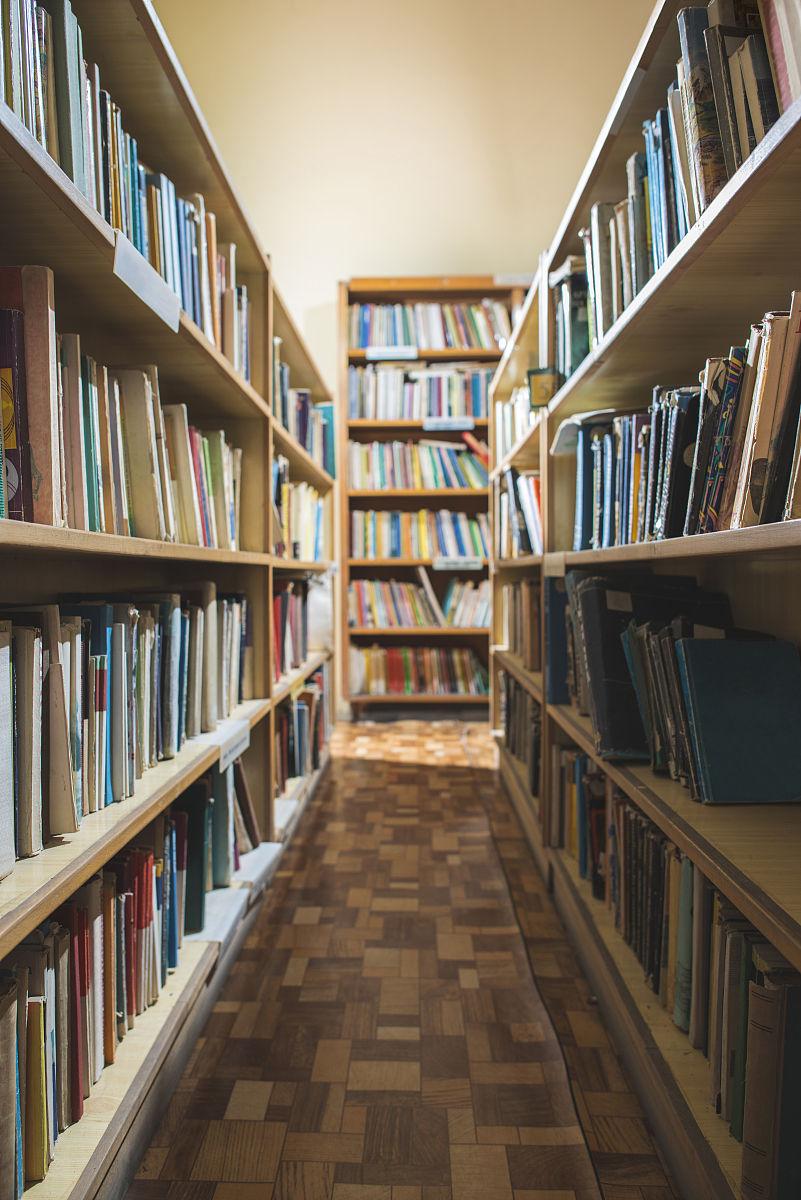 馆_老图书馆里的旧书