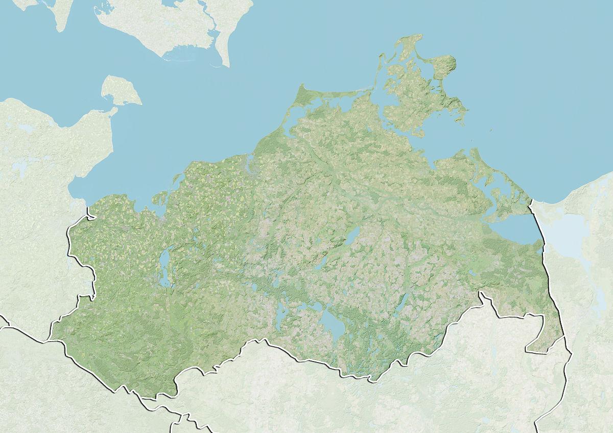 州�9k�yley�.���X{�zy_对梅克伦堡-前波莫瑞州,德国州,地形图