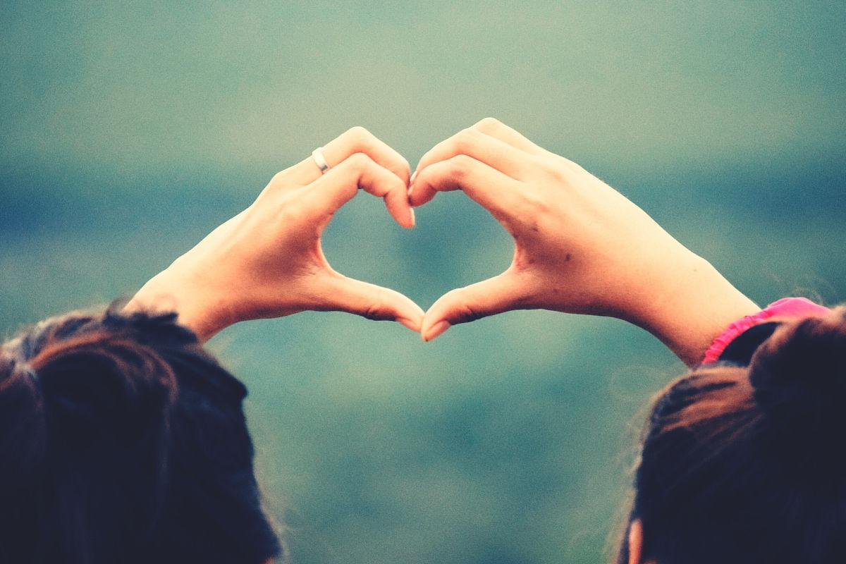 情侣心形后视图图片