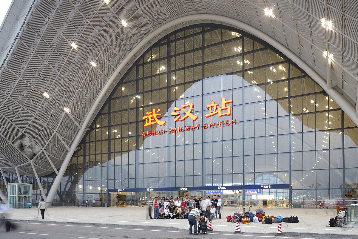 武汉新火车站外景图片