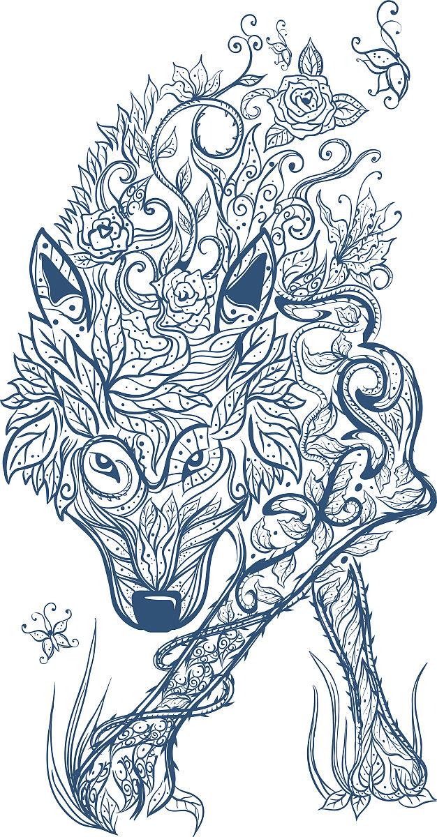 凯尔特狼部落纹身图片