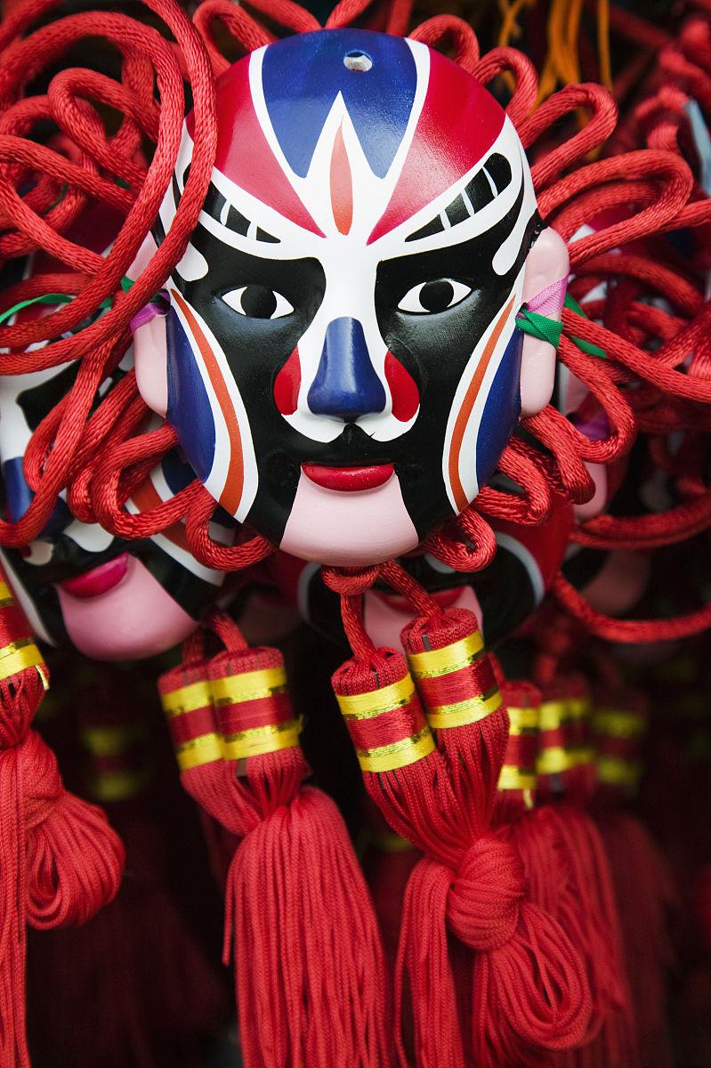 故宫,面具,纪念品,伪饰,东亚文化,拟人,北京市,商品,似人脸,面部表情图片
