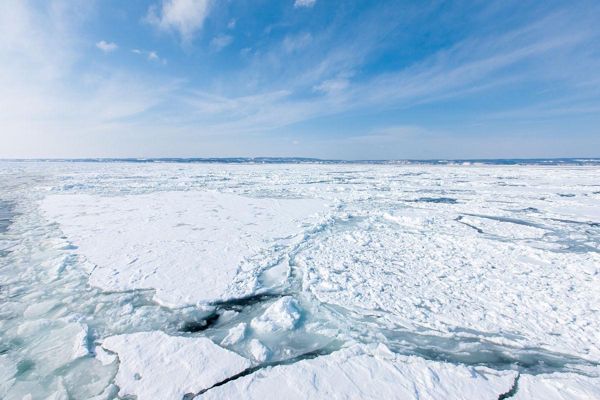 冰海小粹�my�b�m�_鄂霍次克海的流冰