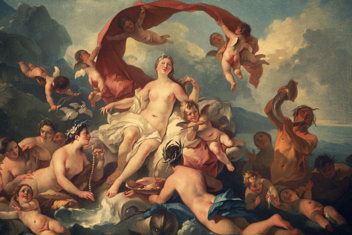 维纳斯的诞生,由pierre jacques cazes(1676-1754),布面油画,barnard图片