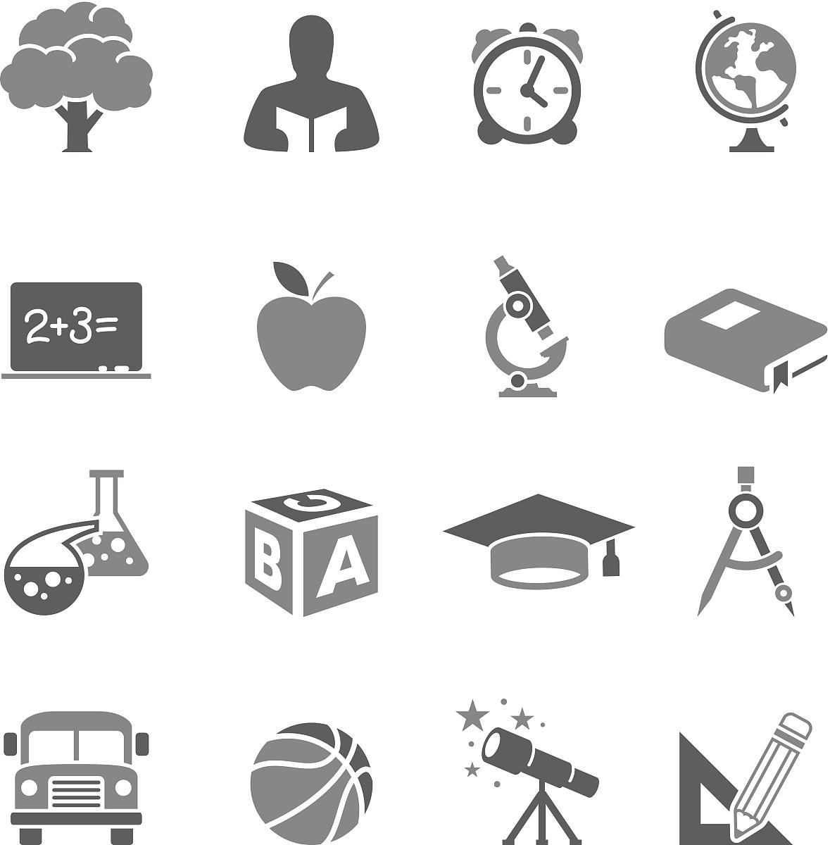 男孩,未成年学生,化学课,重返校园,几何形状,台式地球仪,白色背景图片