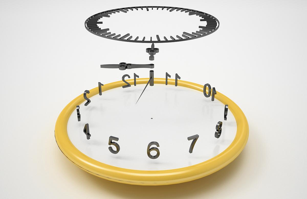 之间_时钟部分之间的时间