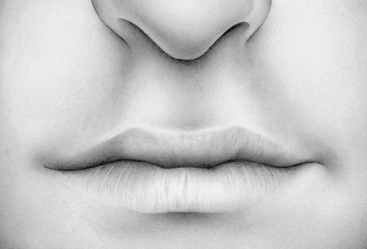 嘴唇特写图片