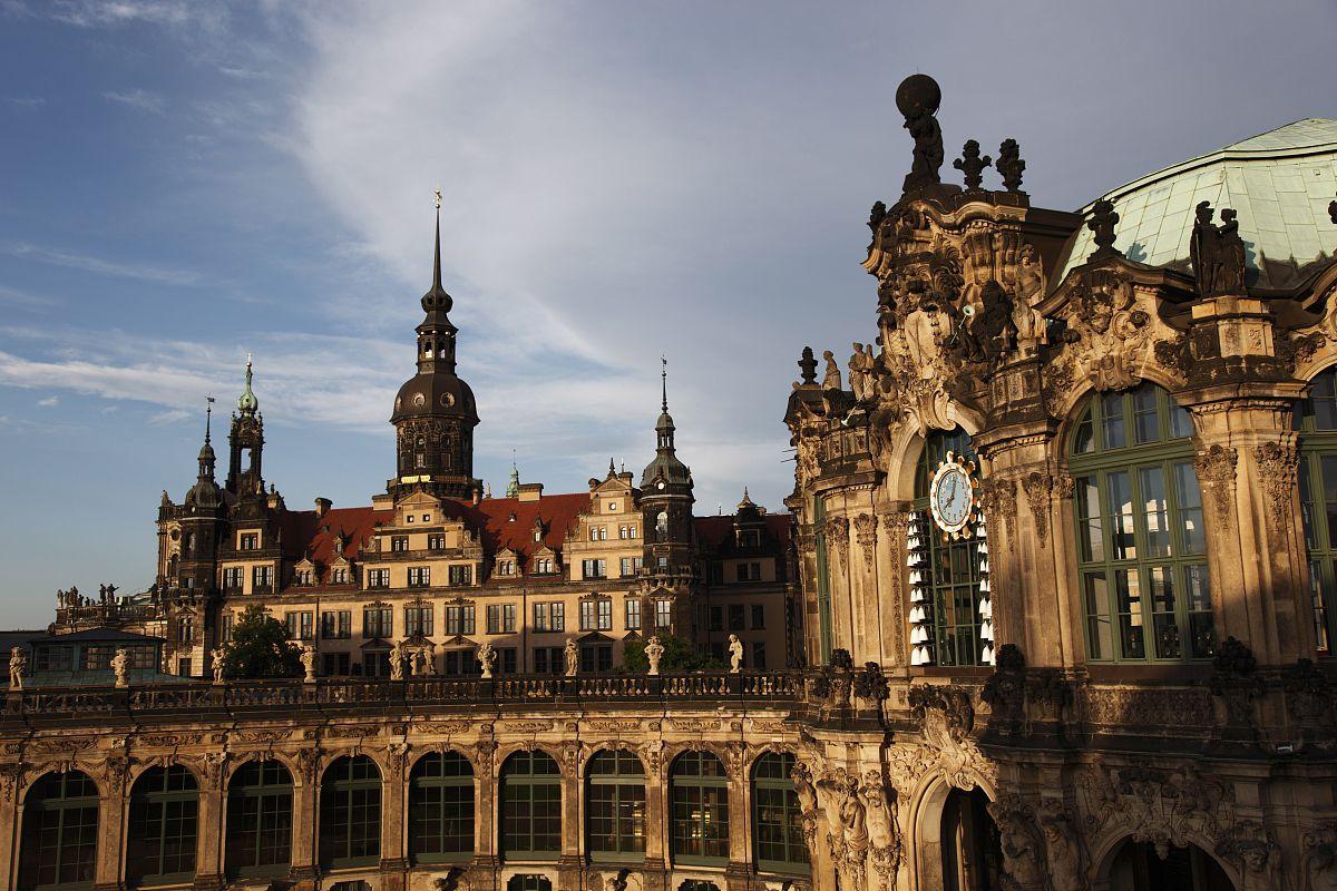 城墙亭,residenz schloss(皇宫),茨温格宫,德累斯顿,德国,欧洲州图片