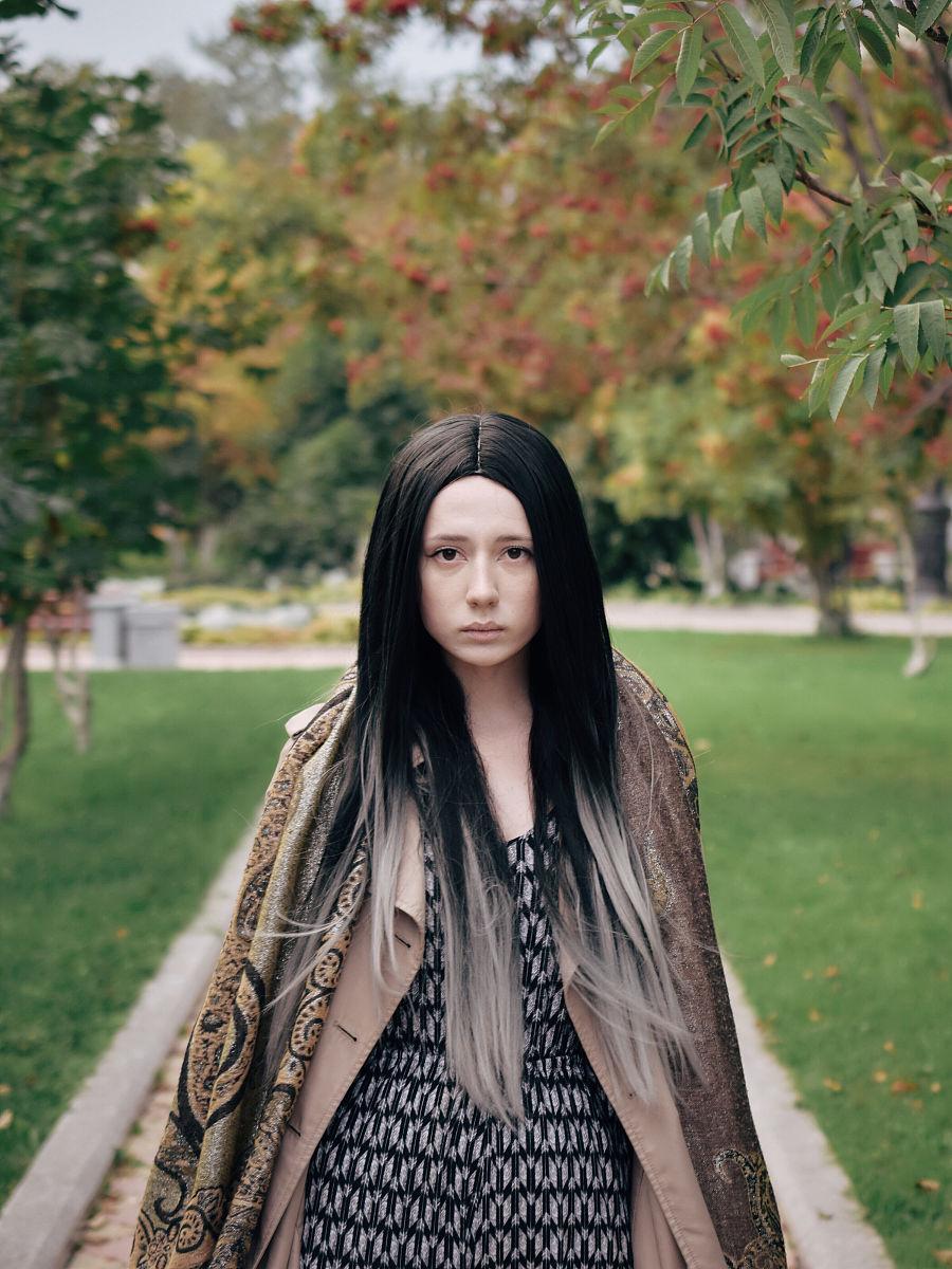 信心,美,头发颜色,休闲装,成年人,直发,青年人,挑染,染发,头发颜色图片