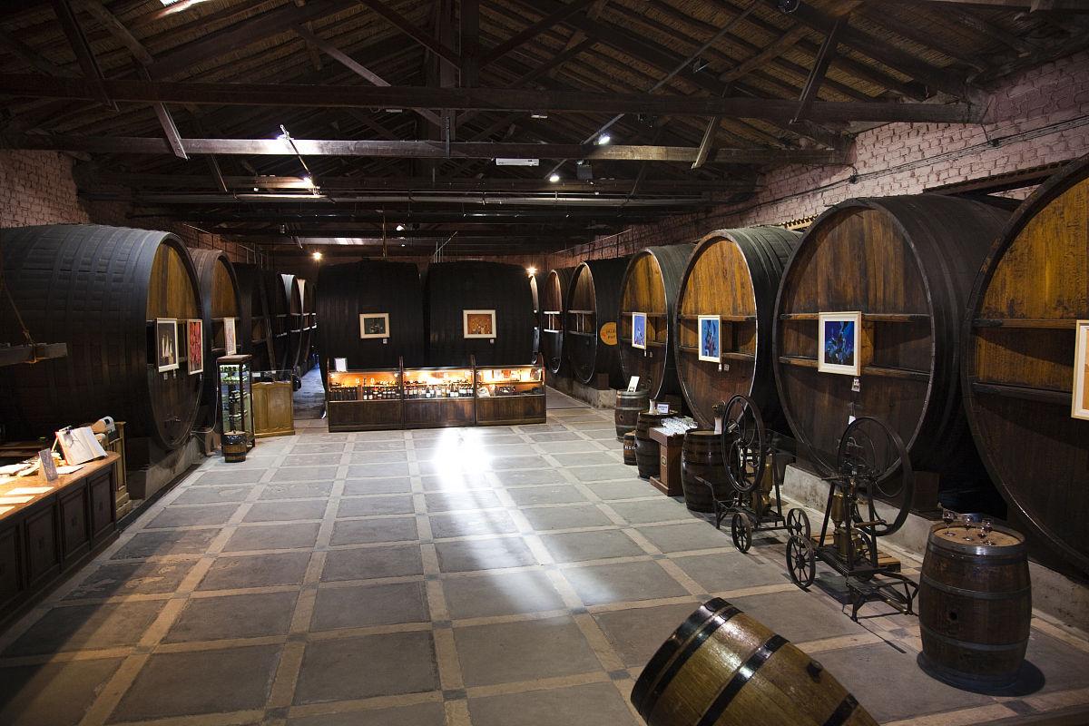 馆_葡萄酒酒桶,酒窖la农村酒庄,maipu,门多萨省,阿根廷