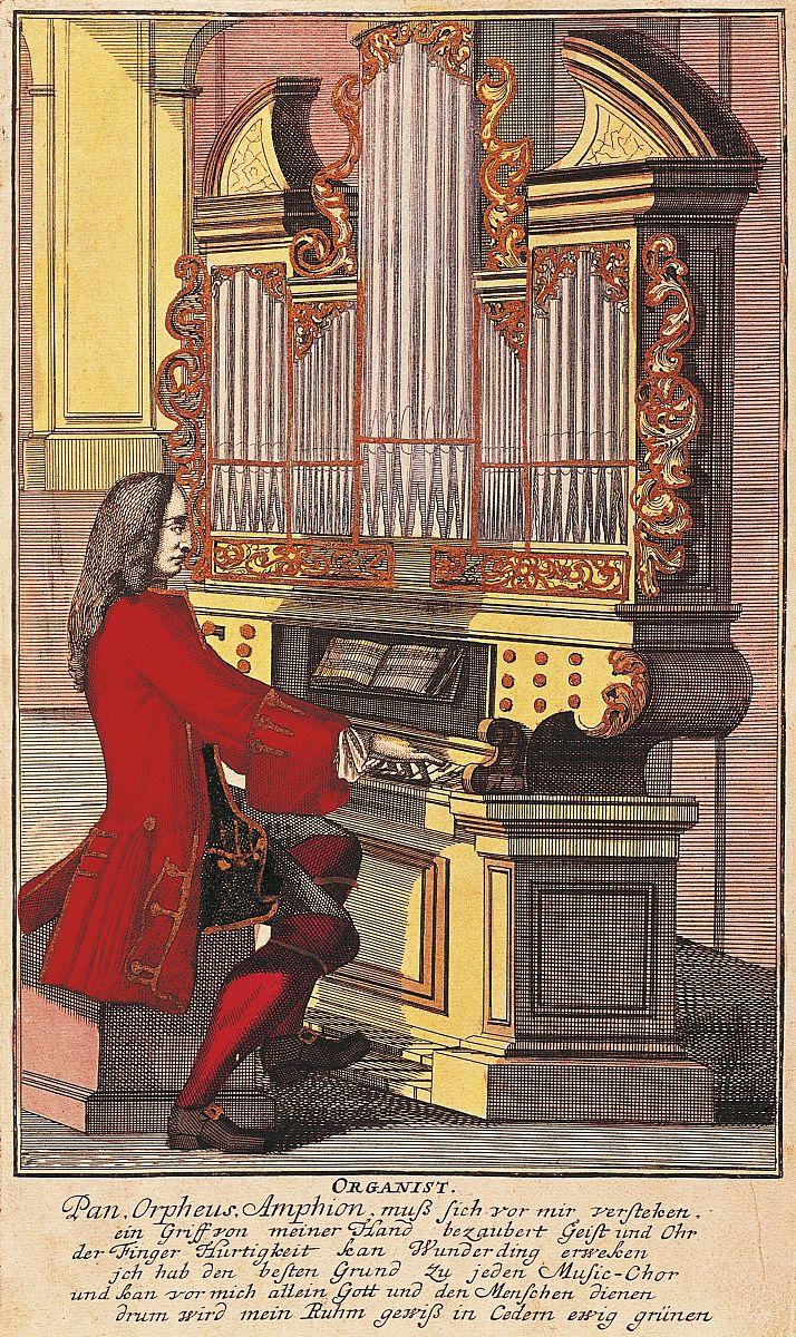 管风琴,由老christoph weigel(1654-1725)雕刻,musicalisches图片
