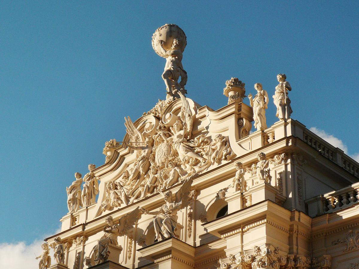 欧式建筑特写图片