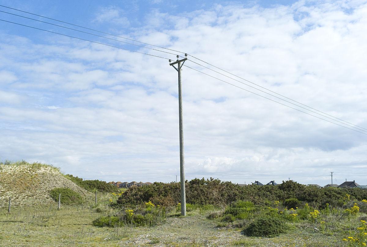 电缆,沟通,联系,水平画幅,户外,英国,树,天空,云,地形,白昼,电线杆图片