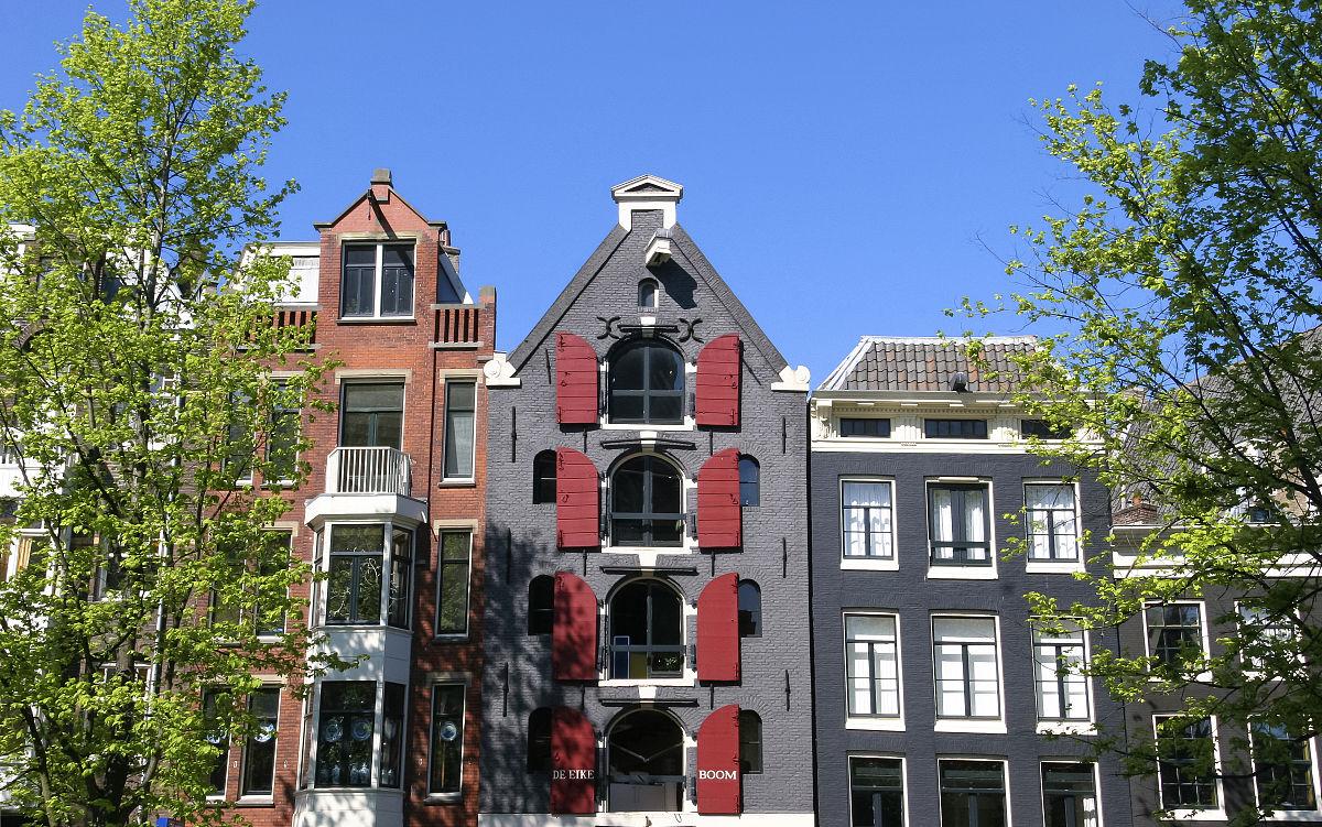 阿姆斯特丹运河房屋屋顶图片