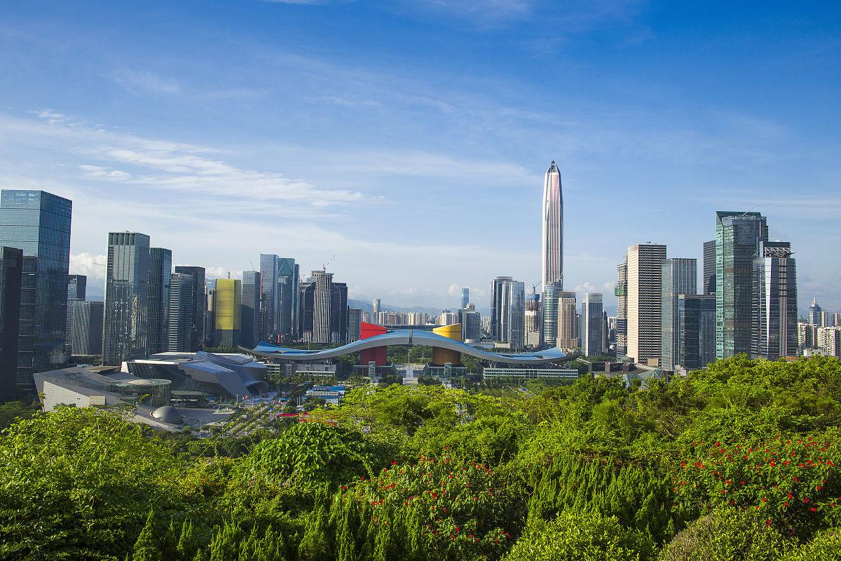 房屋风景交通深圳市区自然城市生活办公大楼建造社区住房