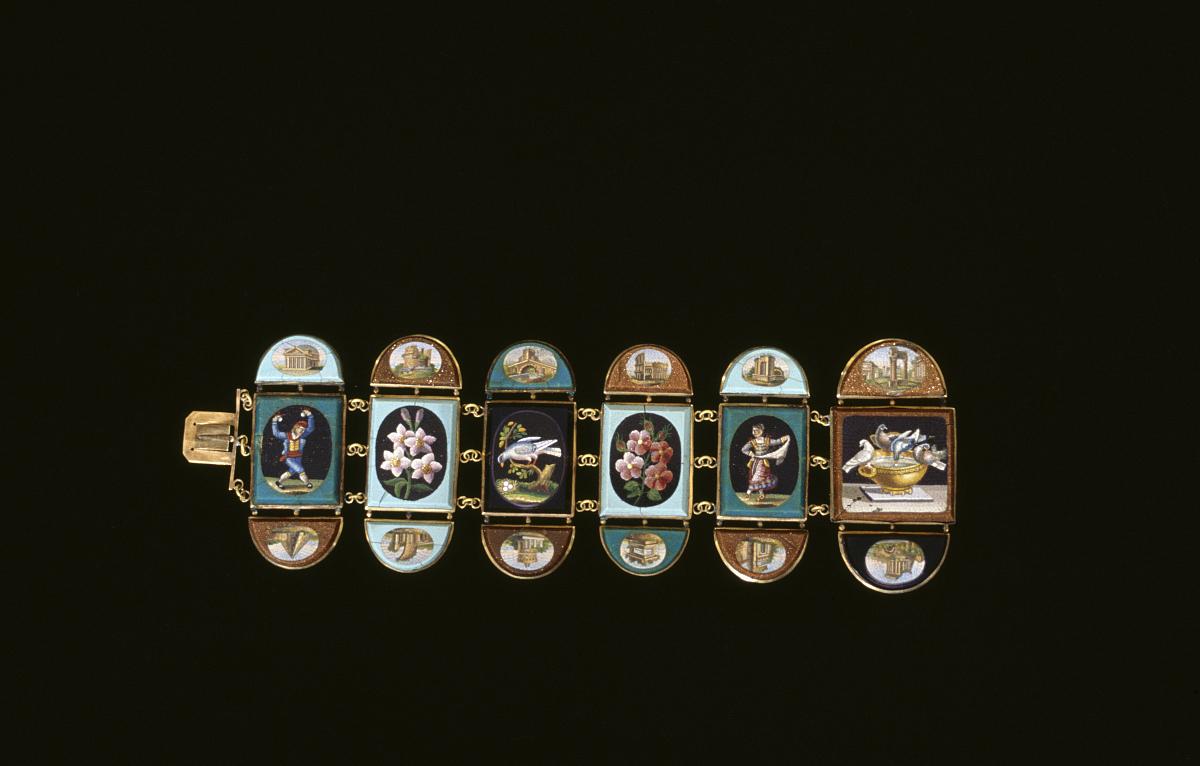 微�y�'���.)9ke�(j9��_微小的马赛克或微马赛克tesserae手镯,罗马,意大利