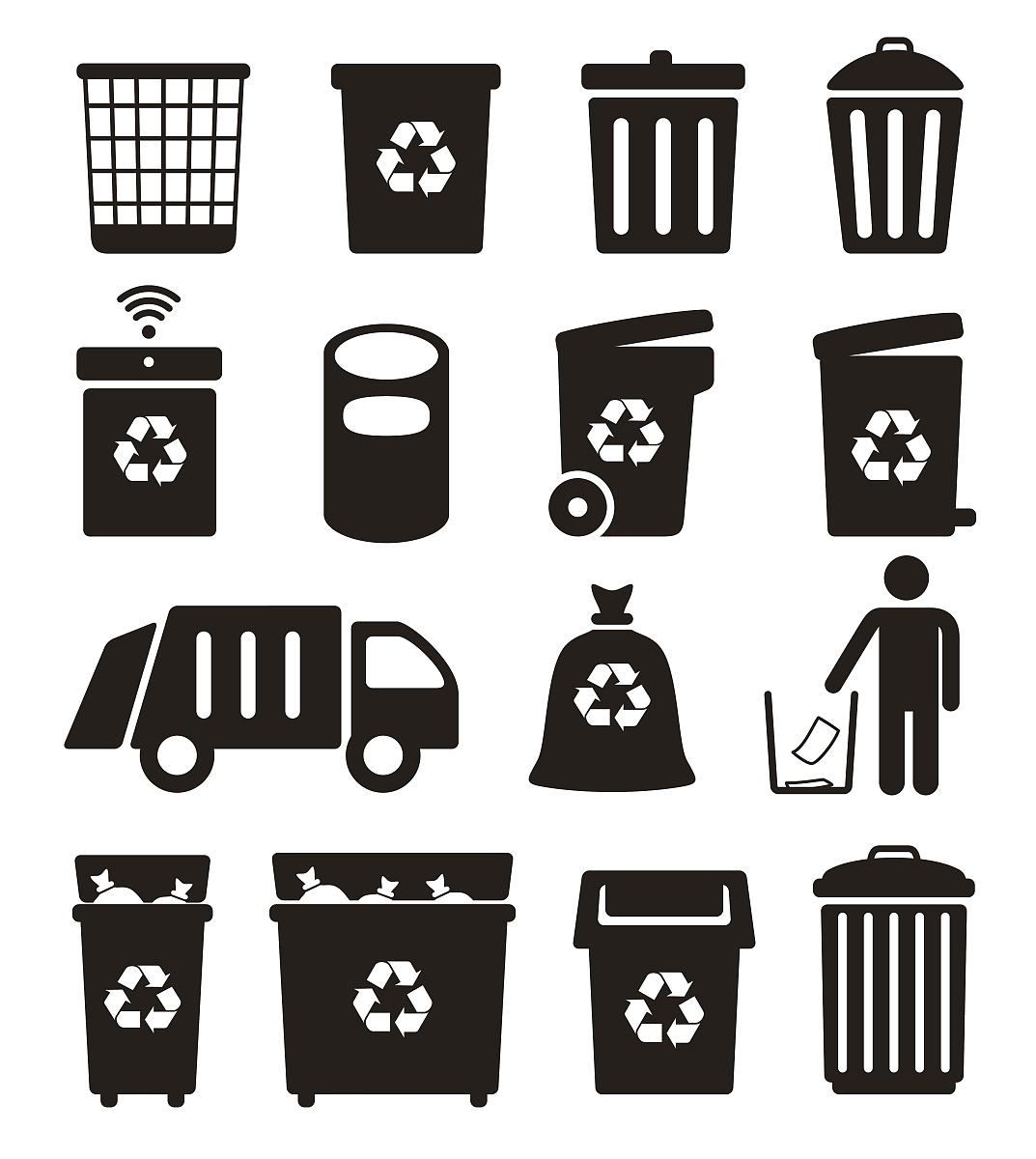 罐子,垂直画幅,社会问题,设计,计算机图标,陆用车,茶水间,垃圾桶,矢量图片