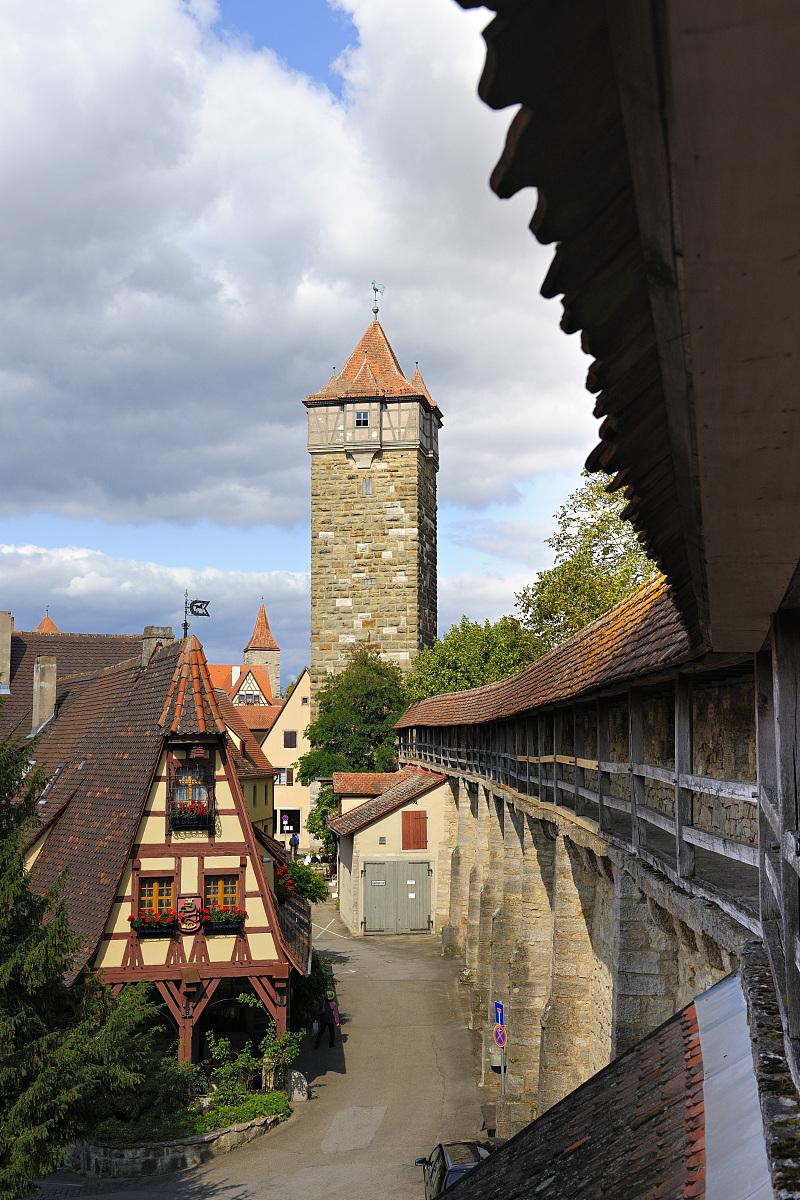 中世纪,古城,罗滕堡洛森堡,建筑,秋天,建造,联系,历史,旅游目的地图片